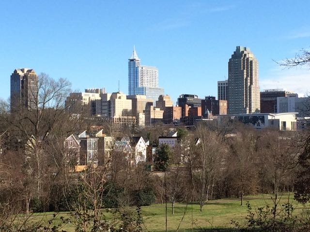 View of downtown from Dorothea Dix Park