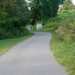The paved trail towards the north