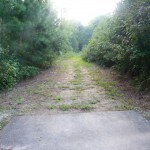 The end of the paved trail