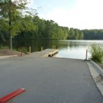 The non-motorized boat launch area