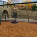A tire swing...classic park feature