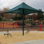 The sand area complete with shade