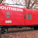 An old caboose for visiting
