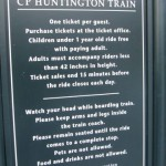 Information about riding the miniature train