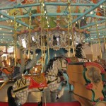 An inside view of the carousel