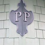 The Pullen Park emblem on the carousel building