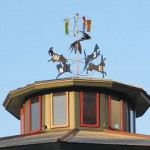 The weather vane atop the carousel