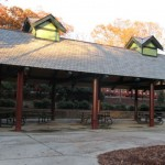 One of the large pavilions for rent