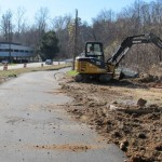 Trail under construction along Blue Ridge Rd